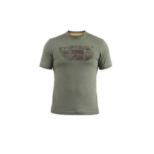 Beretta Hunting Dog T-Shirt Green