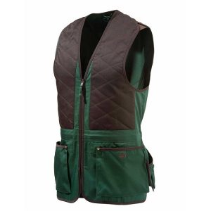Beretta Trap Cotton Vest - Black Forest & CoffeeBeen