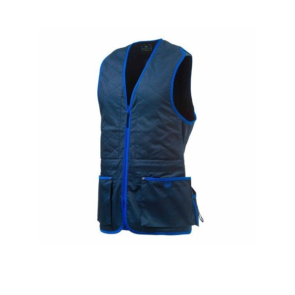 Beretta Trap Cotton Vest - Blue Navy & Blue Beretta