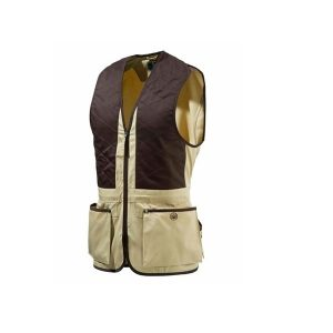 Beretta Trap Cotton Vest - Cornstalk & CoffeeBean