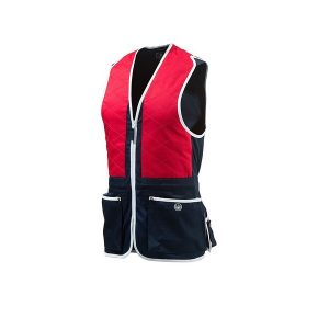 Beretta Trap Cotton Vest - Total Eclipse & Tango Red
