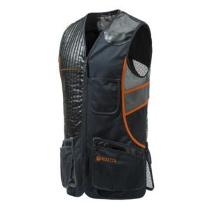 Beretta Sporting Vest Black & Orange