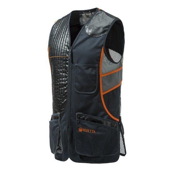 Beretta Sporting Vest Black & Orange