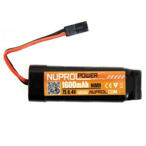 NUPROL BATTERY 1600MAH 8.4V NIMH SMALL Block