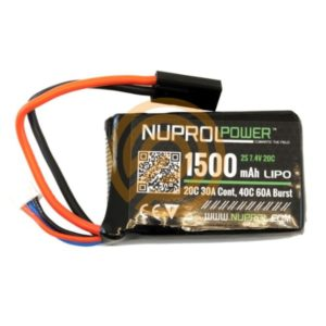NUPROL Power 1500mah 7.4v Lipo 20c PEQ Micro
